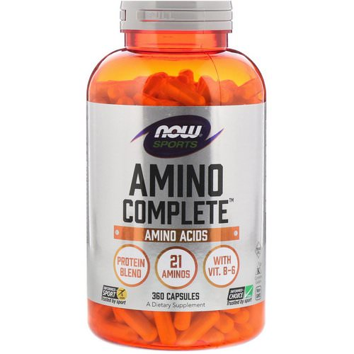 Now Foods, Sports, Amino Complete, 360 Capsules Review