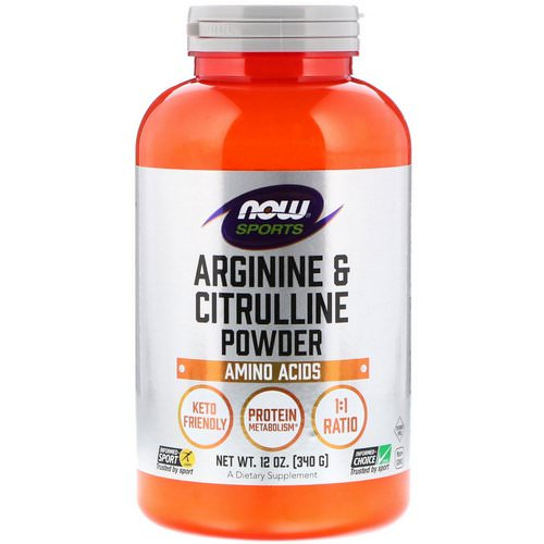 Now Foods, Sports, Arginine & Citrulline Powder, 12 oz (340 g) Review