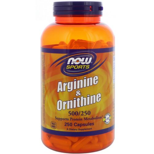 Now Foods, Sports, Arginine & Ornithine, 500/250, 250 Capsules Review