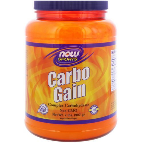 Now Foods, Sports, Carbo Gain, 2 lbs (907 g) Review
