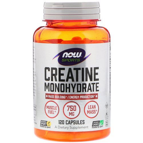 Now Foods, Sports, Creatine Monohydrate, 750 mg, 120 Capsules Review