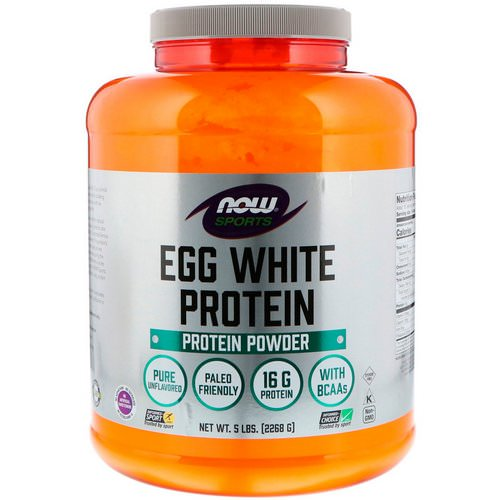 Now Foods, Sports, Egg White Protein Powder, 5 lbs (2268 g) Review