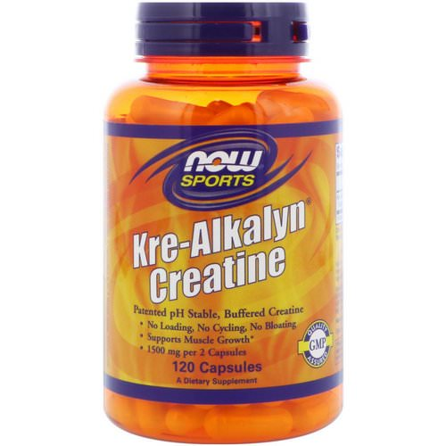 Now Foods, Sports, Kre-Alkalyn Creatine, 120 Capsules Review