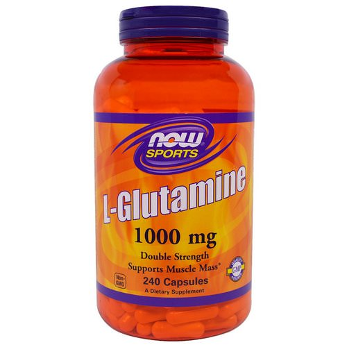 Now Foods, Sports, L-Glutamine, Double Strength, 1000 mg, 240 Capsules Review