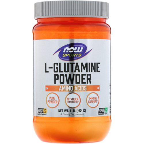 Now Foods, Sports, L-Glutamine Powder, 1 lbs (454 g) Review