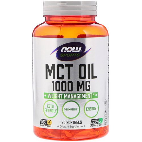 Now Foods, Sports, MCT Oil, 1,000 mg, 150 Softgels Review