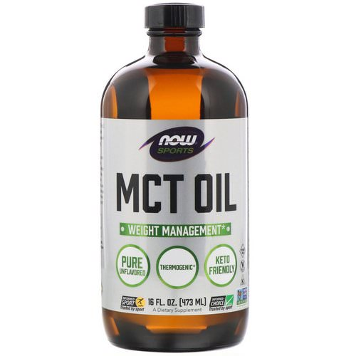Now Foods, Sports, MCT Oil, Unflavored, 16 fl oz (473 ml) Review
