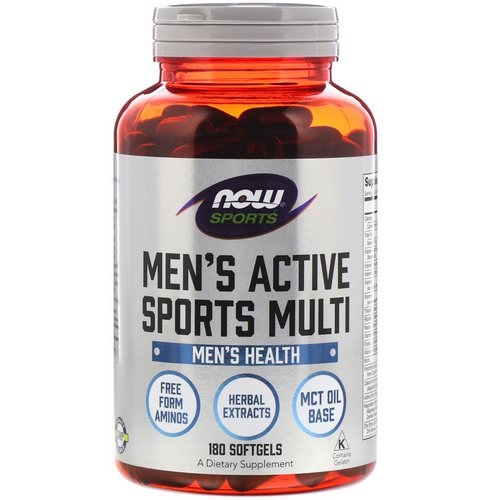Now Foods, Sports, Men's Active Sports Multi, 180 Softgels Review