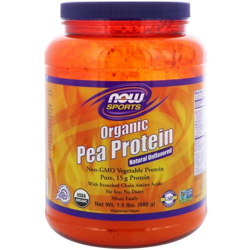 Now Foods, Sports, Organic Pea Protein, Natural Unflavored, 1.5 lbs (680 g) Review