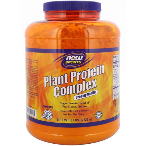 Now Foods, Sports, Plant Protein Complex, Creamy Vanilla, 6 lbs (2722 g) Review