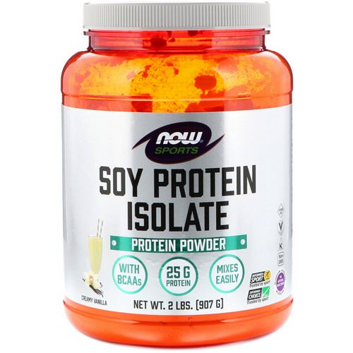 Now Foods, Sports, Soy Protein Isolate, Creamy Vanilla, 2 lbs (907 g) Review
