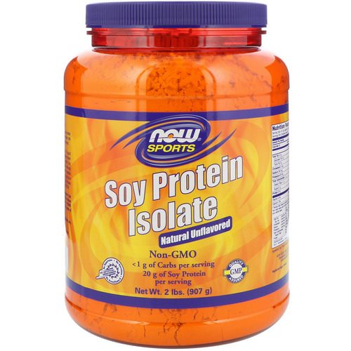 Now Foods, Sports, Soy Protein Isolate, Natural Unflavored, 2 lbs (907 g) Review