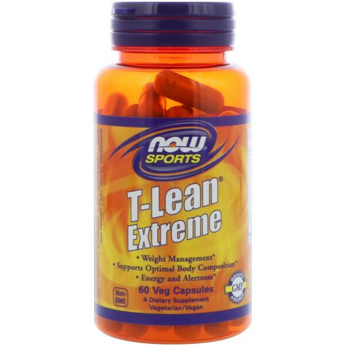 Now Foods, Sports, T-Lean Extreme, 60 Veg Capsules Review