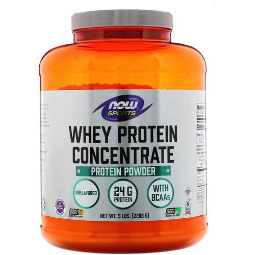 Now Foods, Sports, Whey Protein Concentrate, Unflavored, 5 lbs (2268 g) Review