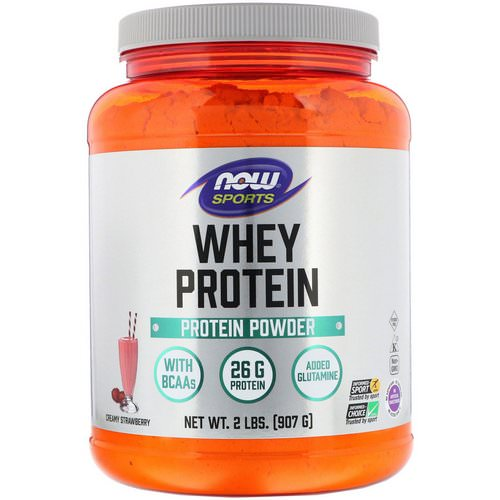 Now Foods, Sports, Whey Protein, Creamy Strawberry, 2 lbs (907 g) Review