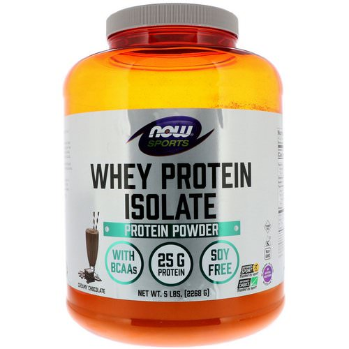 Now Foods, Sports, Whey Protein Isolate, Creamy Chocolate, 5 lbs (2268 g) Review