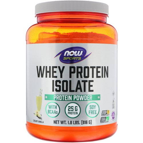 Now Foods, Sports, Whey Protein Isolate, Creamy Vanilla, 1.8 lbs (816 g) Review