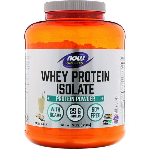 Now Foods, Sports, Whey Protein Isolate, Creamy Vanilla, 5 lbs. (2268 g) Review