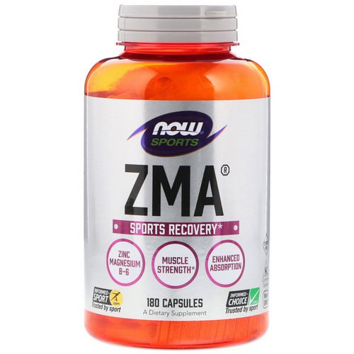 Now Foods, Sports, ZMA, Sports Recovery, 180 Capsules Review