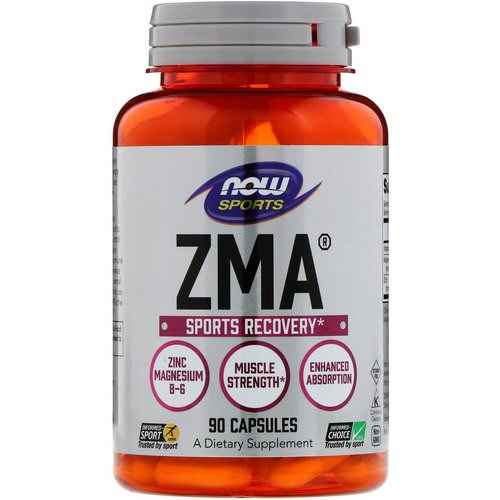 Now Foods, Sports, ZMA, Sports Recovery, 90 Capsules Review