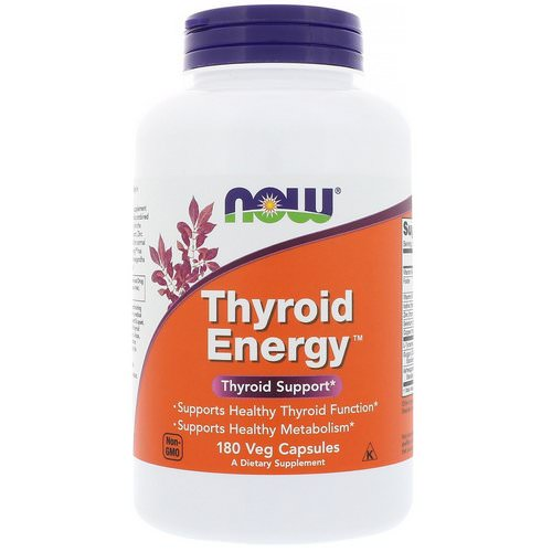 Now Foods, Thyroid Energy, 180 Veg Capsules Review