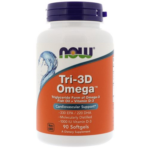 Now Foods, Tri-3D Omega, 330 EPA/220 DHA, 90 Softgels Review