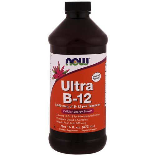 Now Foods, Ultra B-12, 5,000 mcg, 16 fl oz (473 ml) Review