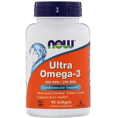 Now Foods, Ultra Omega-3, 500 EPA/250 DHA, 90 Softgels Review