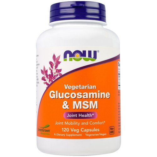 Now Foods, Vegetarian Glucosamine & MSM, 120 Veg Capsules Review