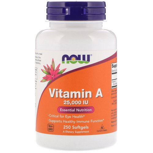 Now Foods, Vitamin A, 25,000 IU, 250 Softgels Review