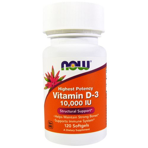 Now Foods, Vitamin D-3 High Potency, 10,000 IU, 120 Softgels Review