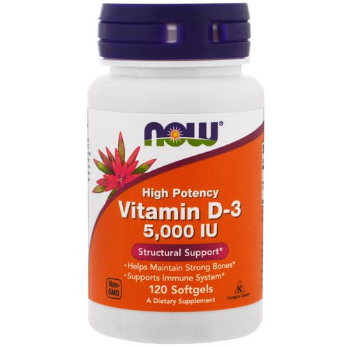 Now Foods, Vitamin D-3, High Potency, 5,000 IU, 120 Softgels Review