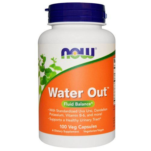 Now Foods, Water Out, Fluid Balance, 100 Veggie Caps Review