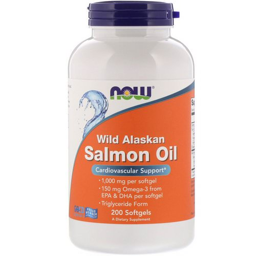 Now Foods, Wild Alaskan Salmon Oil, 1000 mg, 200 Softgels Review