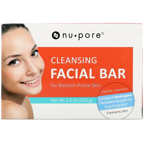 Nu-Pore, Cleansing Facial Bar for Blemish-Prone Skin, 3.5 oz (100 g) Review