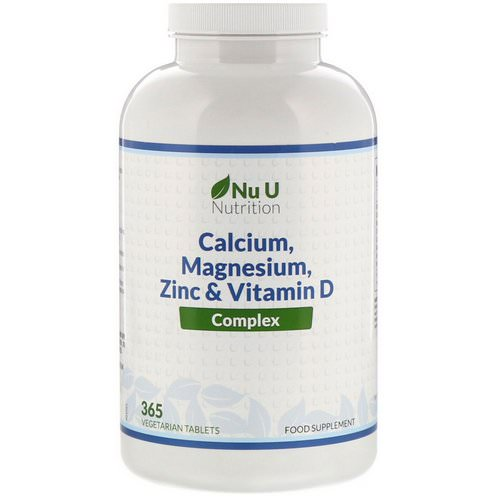 Nu U Nutrition, Calcium, Magnesium, Zinc & Vitamin D Complex, 365 Vegetarian Tablets Review
