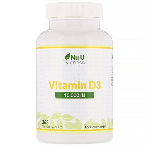 Nu U Nutrition, Vitamin D3, 10,000 IU, 365 Softgel Capsules Review