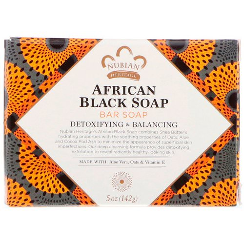 Nubian Heritage, African Black Bar Soap, 5 oz (142 g) Review