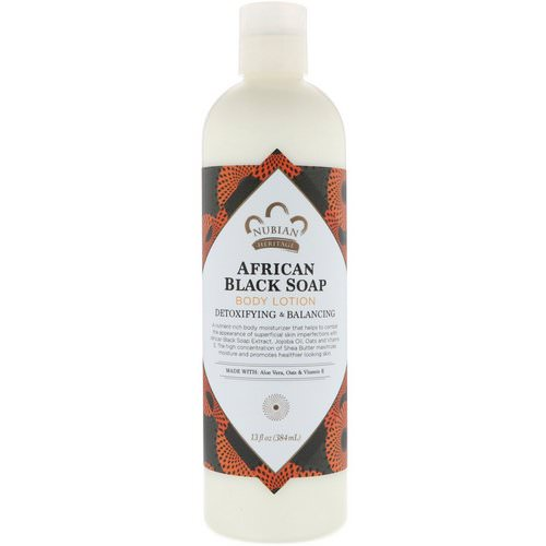 Nubian Heritage, Body Lotion, African Black Soap, 13 fl oz (384 ml) Review