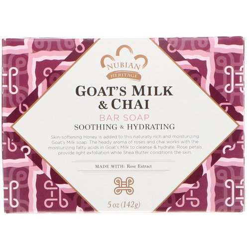 Nubian Heritage, Goat's Milk & Chai Bar Soap, 5 oz (142 g) Review
