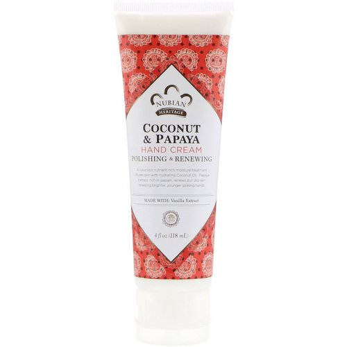 Nubian Heritage, Hand Cream, Coconut & Papaya, 4 fl oz (118 ml) Review