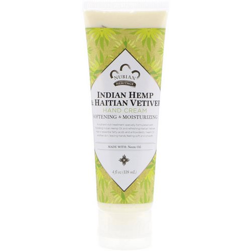 Nubian Heritage, Hand Cream, Indian Hemp & Haitian Vetiver, 4 fl oz (118 ml) Review