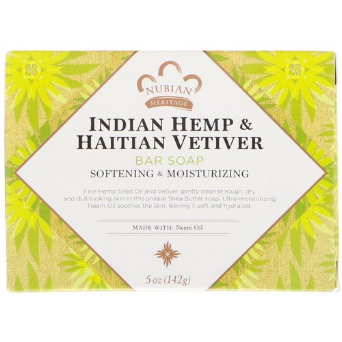 Nubian Heritage, Indian Hemp & Haitian Vetiver Bar Soap, 5 oz (142 g) Review