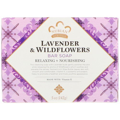 Nubian Heritage, Lavender & Wildflowers Bar Soap, 5 oz (142 g) Review