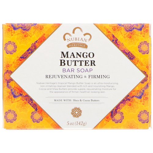 Nubian Heritage, Mango Butter Bar Soap, 5 oz (142 g) Review