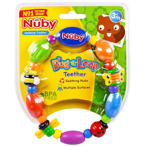 Nuby, Soothing Teether, Bug-a-Loop, 3 + Months, 1 Soothing Teether Review
