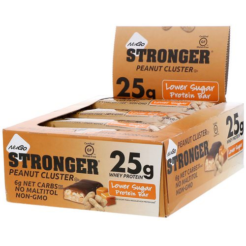 NuGo Nutrition, Stronger, Peanut Cluster, 12 Bars, 2.82 oz (80 g) Each Review