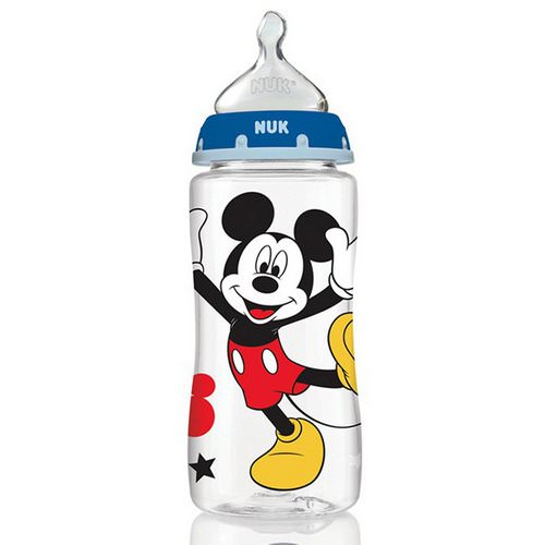 NUK, Disney Baby, Orthodontic Bottles, Medium, Blue, 0+ Months, 3 Bottles, 10 oz (300 ml) Each Review