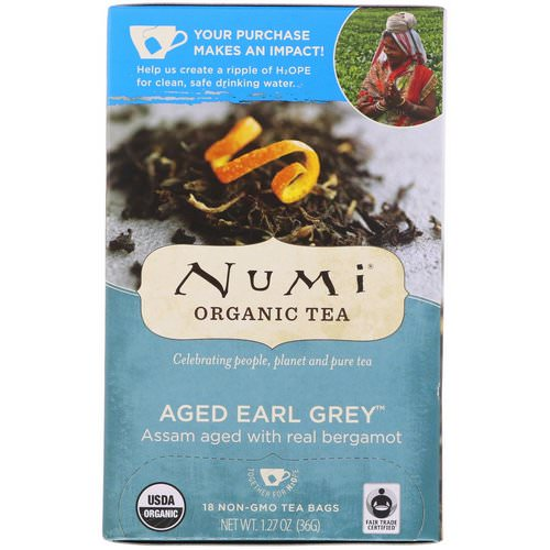 Numi Tea, Organic Tea, Black Tea, Aged Earl Grey, 18 Tea Bags (1.27 oz (36 g) Review