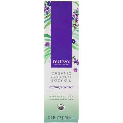 Nutiva, Organic Coconut Body Oil, Calming Lavender, 3.4 fl oz (100 ml) Review